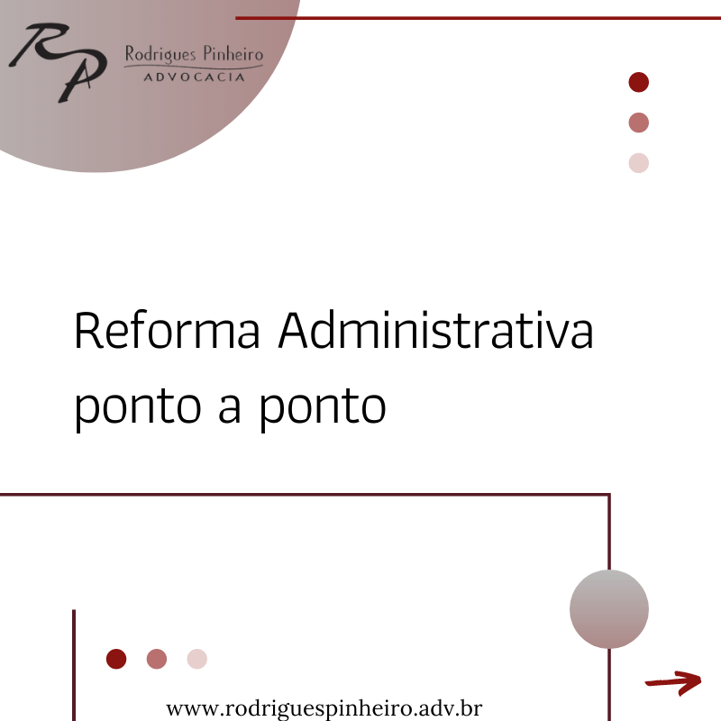 Reforma administrativa ponto a ponto