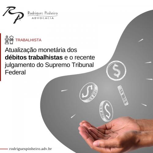 Correção monetária de débitos trabalhistas