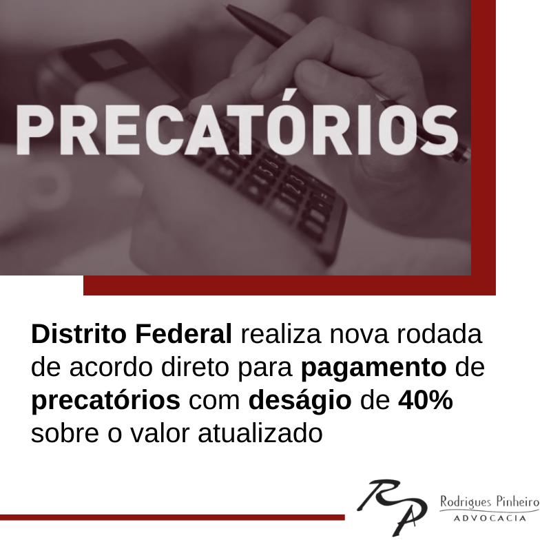 Pagamento de precatórios Distrito Federal 2021