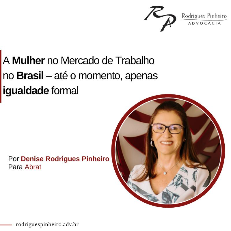A mulher no mercado de trabalho no Brasil
