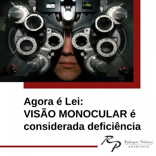 Visão monocular é considerada deficiência