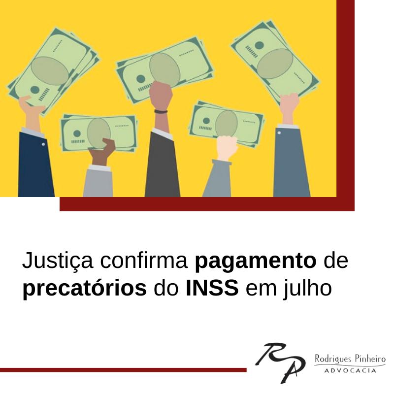 Pagamento de precatórios do INSS em julho 2021